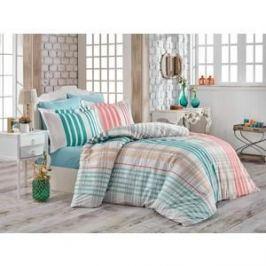 Комплект постельного белья Hobby home collection Евро, поплин, Stripe бирюзовый (1501001747)