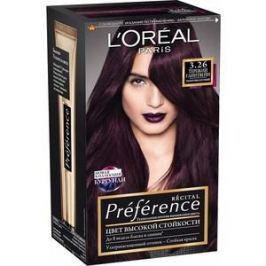 L'OREAL Preference Краска для волос тон 3.26 Терпкий глинтвейн