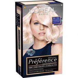 L'OREAL Preference Краска для волос тон 11.21 ультраблонд перламутровый