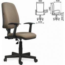Кресло оператора Brabix Basic MG-310 с подлокотниками коричневое KB-28 531414