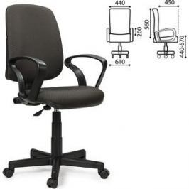 Кресло оператора Brabix Basic MG-310 с подлокотниками серое JP-15-1 531410