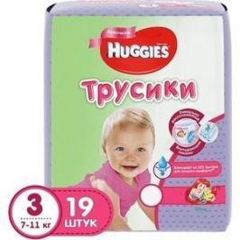 Huggies Подгузники-трусики PANTS Annapurna Размер 3 7-11кг 19 шт для девочек