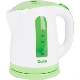 Чайник электрический Delta DL-1326 белый с зеленым