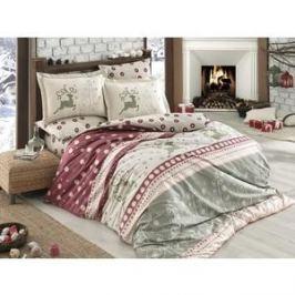 Комплект постельного белья Hobby home collection 1,5 сп, поплин, Ludovica бордовый (1501001578)
