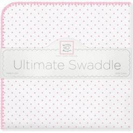 Фланелевая пеленка SwaddleDesigns для новорожденного Bt. Pink Polka Dot (SD-001P)