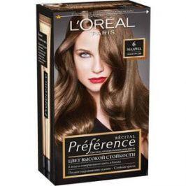 L'OREAL Preference Краска для волос тон 6 Мадрид темно-русый 40 мл