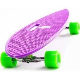 Скейтборд Hubster Cruiser 36 фиолетовый с зелеными колесами 9384П