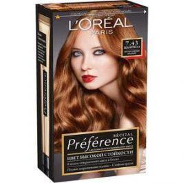L'OREAL Preference Краска для волос тон 7.43 шангрила
