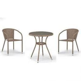 Комплект мебели из  искуственного ротанга Afina garden T282ANT/Y137C-W56 light brown (2+1)