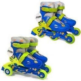 Роликовые коньки Moby Kids 2 в 1 р 30-33 сине-зеленый 641004