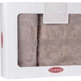 Набор из 2 полотенец Hobby home collection Versal (50x90/70x140) коричневый (1501001824)