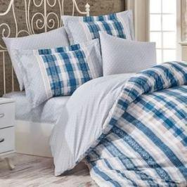 Комплект постельного белья Hobby home collection 1,5 сп, поплин, Debora синий (1501001750)