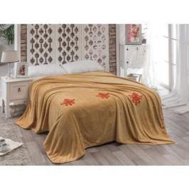 Покрывало Karna вельсофт с вышивкой Damask 200x220 см (2010/CHAR001)