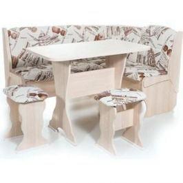 Набор мебели для кухни Бител Орхидея - однотонный (ясень, замша 642 Париж, ясень)