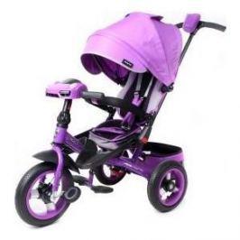 Велосипед 3-х колесный Moby Kids с разворотным сиденьем Leader 360° 12x10 AIR Car фиолетовый 641073