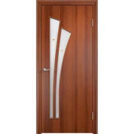 Дверь VERDA Тип С-7(Ф) остекленная 1900х600 МДФ финиш-пленка Итальянский орех