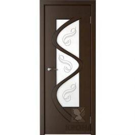 Дверь VERDA Вега остекленная 2000х600 шпон Венге левая