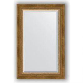 Зеркало с фацетом в багетной раме поворотное Evoform Exclusive 53x83 см, состаренное бронза с плетением 70 мм (BY 3406)
