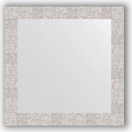 Зеркало в багетной раме Evoform Definite 66x66 см, соты алюминий 70 мм (BY 3147)