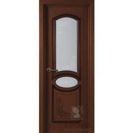 Дверь VERDA Муза остекленная 2000х900 шпон Макоре