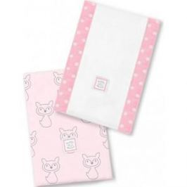 Полотенчики SwaddleDesigns Baby Burpie Set Pink Gray Fox (SD-613P)