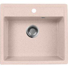 Кухонная мойка AquaGranitEx M-56 560х500 розовый (M-56 (315))