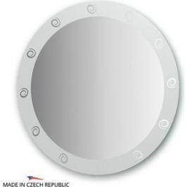 Зеркало FBS Artistica D80 см, с орнаментом - галактика, вертикальное или горизонтальное (CZ 0710)