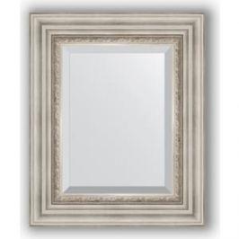 Зеркало с фацетом в багетной раме Evoform Exclusive 46x56 см, римское серебро 88 мм (BY 1369)