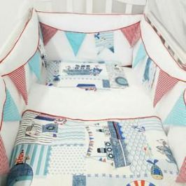 Комплект в кроватку By Twinz 6 пр. Морская история КЛАССИКА