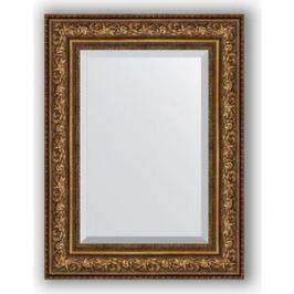 Зеркало с фацетом в багетной раме поворотное Evoform Exclusive 60x80 см, виньетка состаренная бронза 109 мм (BY 3401)