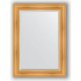 Зеркало с фацетом в багетной раме поворотное Evoform Exclusive 79x109 см, травленое золото 99 мм (BY 3470)