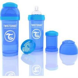 Twistshake Антиколиковая бутылочка для кормления 260 мл. Синяя (780008)