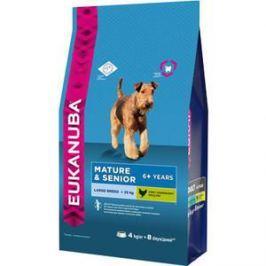 Сухой корм Eukanuba Mature & Senior Dog 6+ Years Large Breed with Chicken с курицей для пожилых собак крупных пород 15кг