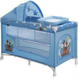 Манеж Lorelli NANNY 2 PLUS Rocker Синий / Blue Adventure 1610