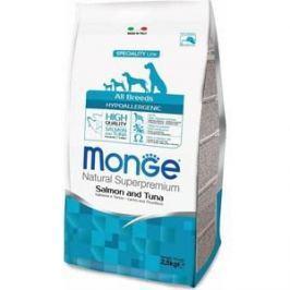 Сухой корм Monge Speciality Line Adult Dog All Breed Hypoallergenic Salmon and Tuna гипоаллергенный с лососем и тунцом для взрослых собак 2,5кг