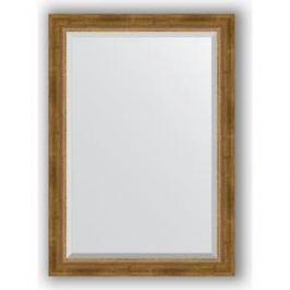 Зеркало с фацетом в багетной раме поворотное Evoform Exclusive 73x103 см, состаренное бронза с плетением 70 мм (BY 3458)