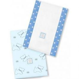 Полотенчики SwaddleDesigns Baby Burpie Set Blue Gray Doggie (SD-611B)