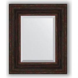 Зеркало с фацетом в багетной раме Evoform Exclusive 49x59 см, темный прованс 99 мм (BY 3369)
