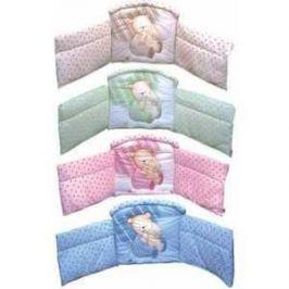 Бортик в кроватку Золотой гусь Мишутка розовый 4046