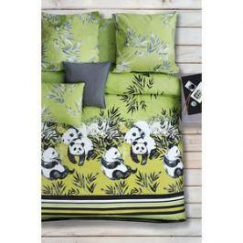 Комплект постельного белья Сова и Жаворонок 2-х сп, поплин, Зеленый чай, n50