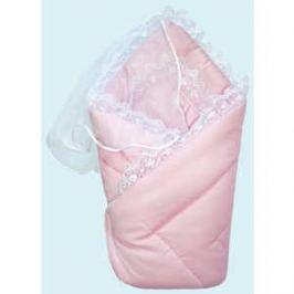 Конверт-одеяло Золотой гусь на выписку сатин жакард розовый 20026