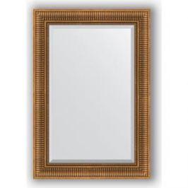 Зеркало с фацетом в багетной раме поворотное Evoform Exclusive 67x97 см, бронзовый акведук 93 мм (BY 3440)