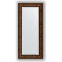 Зеркало с фацетом в багетной раме поворотное Evoform Exclusive 72x162 см, состаренная бронза с орнаментом 120 мм (BY 3585)