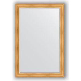 Зеркало с фацетом в багетной раме поворотное Evoform Exclusive 119x179 см, травленое золото 99 мм (BY 3626)