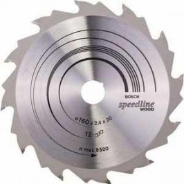 Диск пильный Bosch 160х20мм 12зубьев Speedline Wood (2.608.640.786)