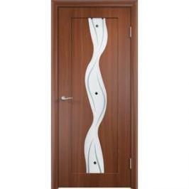 Дверь VERDA Вираж остекленная 1900х550 ПВХ Итальянский орех
