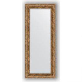 Зеркало с фацетом в багетной раме поворотное Evoform Exclusive 55x135 см, виньетка античная бронза 85 мм (BY 3514)