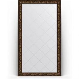 Зеркало напольное с гравировкой поворотное Evoform Exclusive-G Floor 114x203 см, в багетной раме - византия бронза 99 мм (BY 6366)
