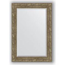 Зеркало с фацетом в багетной раме поворотное Evoform Exclusive 65x95 см, виньетка античная латунь 85 мм (BY 3437)
