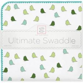 Фланелевая пеленка SwaddleDesigns для новорожденного TQ Lt. Chickies (SD-404TQ)